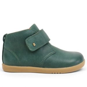 Bobux Desert-Iwalk-Forest-Green-Ankle-Boot-Single-Strap-Caramel-Sole