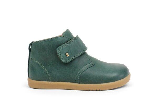Bobux Desert-Iwalk-Forest-Green-Ankle-Boot-Single-Strap-Caramel-Sole