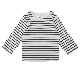 Dotty Dungarees Navy Stripe Breton Top