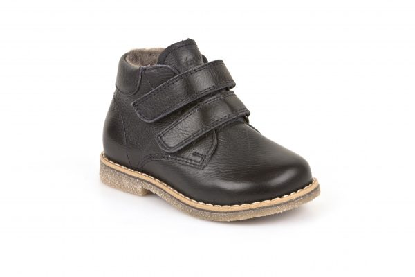 Froddo-Jack-Dark-Navy-Smart-Classic-Boot-with-two-velcro-straps-light-brown-sole-fleece-lining