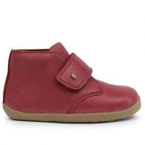 Bobux-Desert-Deep-Red-Ankle-Boot-One-Strap-Camel-Sole