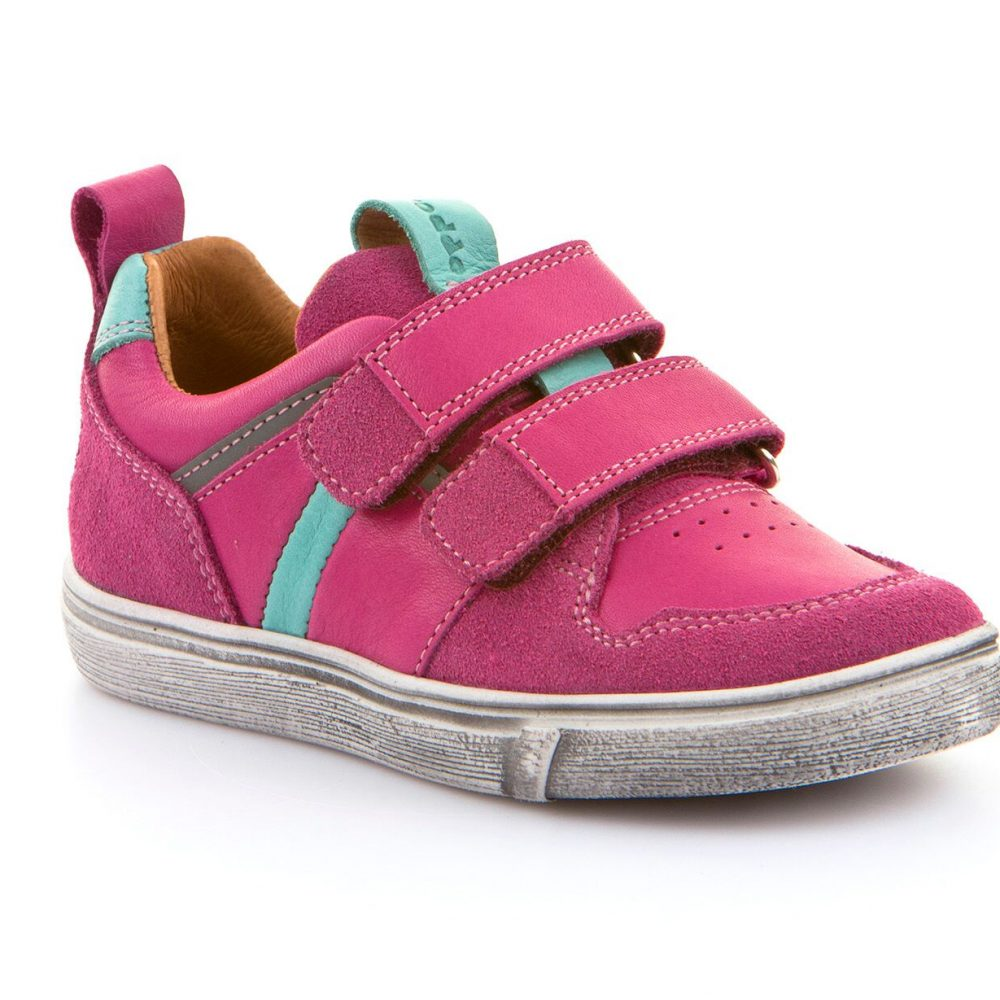 607094b975f froddoandro_G3130124_girls_pink_blue_trainer_velcro_distressed_sole