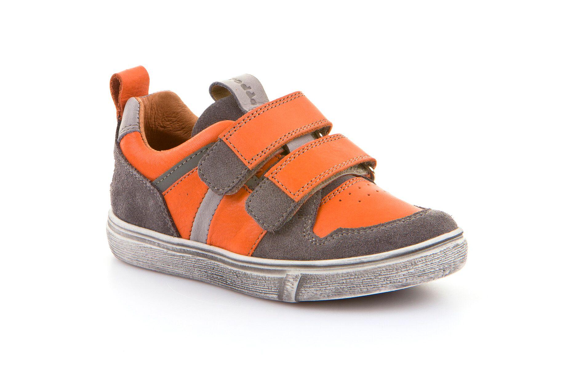 froddoandro_orange_grey_boys_distressed_leather_trainer