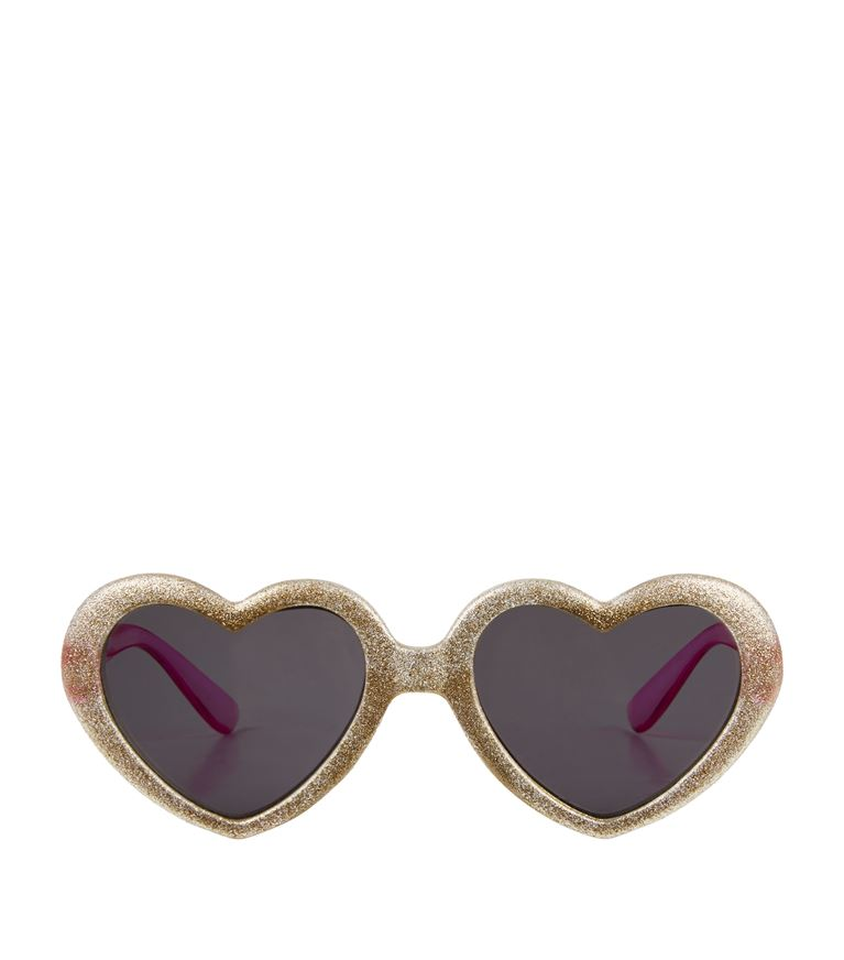 ad3a83f6d8 Home Products Rockahula Glitter Gold Heart Sunglasses. Rockahula Glitter