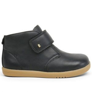 Bobux-Desert-Iwalk-Black-Ankle-Boot-Single-Velcro-Strap-Leather-Caramel-Sole