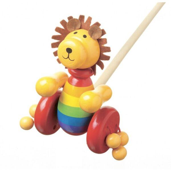 orangetreetoy_lion_push_along_toy