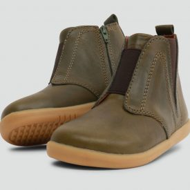 Bobux Signet Olive Leather Ankle Boot