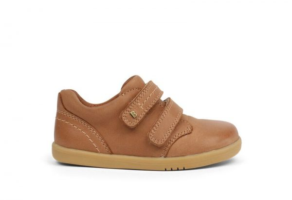 bobux-port-caramel-two-velcro-kids-shoe-chunky-sole-leather