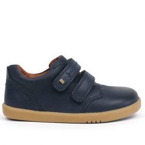 bobux-navy-leather-shoe-two-velcro-straps-caramel-sole-inside-lining-soft-stitching