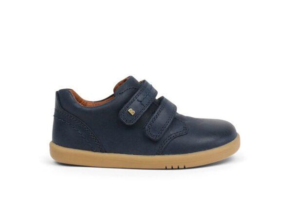 bobux-navy-leather-shoe-two-velcro-straps-caramel-sole-inside-lining-soft-stitching