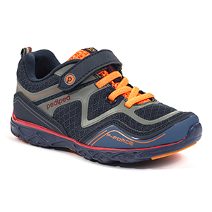 pediped-force-navy-orange-lace-boys-trainer-single-velcro