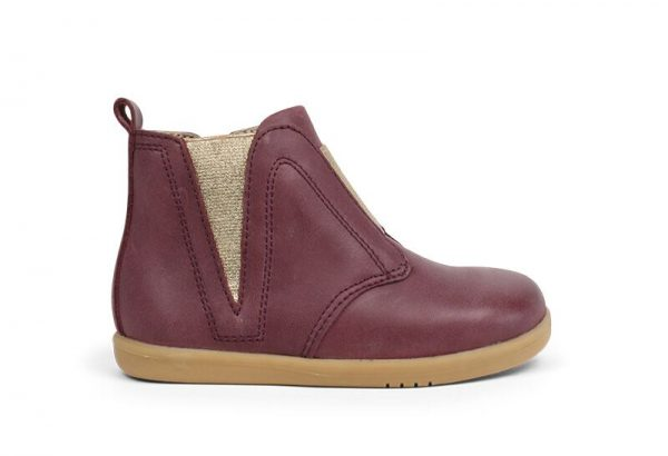 signet-plum-bobux-kids-boot-iwalk-gold-shimmer-panel-tan-sole