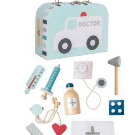 JaBaDaBaDo Doctors Case Wooden Toy – Blue
