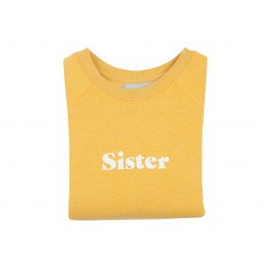 sister_jumper_yellow_bobandblossom_slogan_white